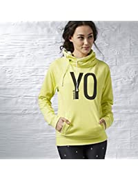 Reebok Womens Crossfit Yoga Burnout Cowl Neck Sweatshirt