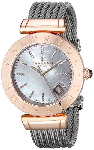 Charriol Alexandre AMP.51.004 34mm Silver Steel Bracelet & Case Synthetic Sapphire Women's Watch