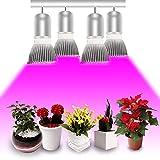 Esbaybulbs Led Grow Light Bulbs,Full Spectrum Grow Lamp,E27 28W LED Grow Lights,Professional for Seedling Growing Blooming Fruiting (4 Pack) Bild