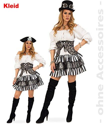 KarnevalsTeufel Damenkleid Gwendolyn, Steampunk-Kleid, Totenkopf, Piratin, Gothic (40)