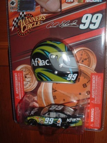 carl-edwards-99-aflac-aflac-duck-ford-fusion-1-64-scale-bonus-magnet-mini-helmet-winners-circle-by-w