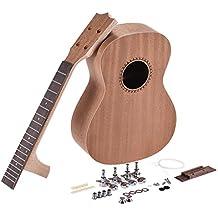 ammoon 26in Ukelele Tenor Guitarra de Hawaii Kit de Bricolaje Cuerpo de Madera Sapele Diapasón de