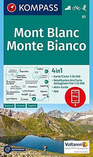 Mont Blanc D/I/F +AG por KOMPASS-Karten
