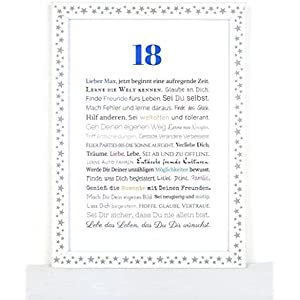 18. Geburtstag - Geschenkidee zu