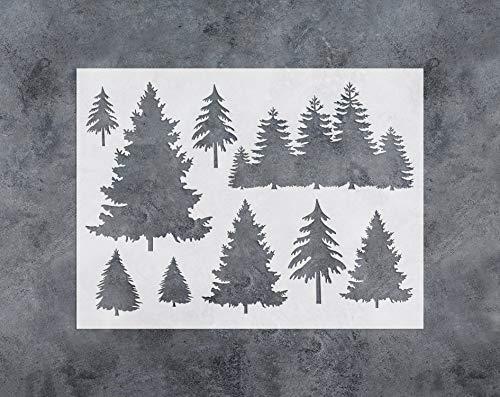 GSS Designs Baum-Dekor-Schablone - große Baum-Schablone (30,5 x 40,6 cm) zum Malen und Basteln - Fenster Wand Möbel Stoff Holz Schablonen - wiederverwendbare Schablonen (SL-031) (Dekor Schablone)