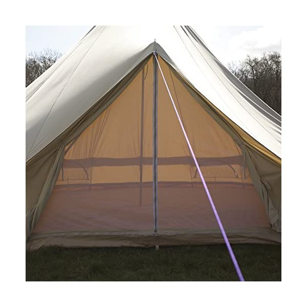 Boutique Camping 4m Sandstone Bell Tent With Zipped In Ground Sheet 2