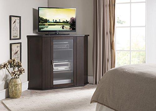 Kings Marke Walnuss-Finish Holz Ecke TV-Ständer Aufbewahrung Konsole (Tv-konsole Ecke)