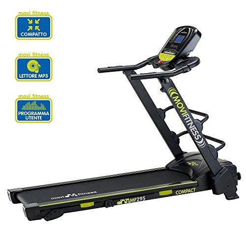 Tapis Roulant Elettrico Movi Fitness Treadmill MF295 Compact - Salvaspazio - LCD - MP3 - 1,75 / 2,75 HP - 0,8 / 14 Km/h