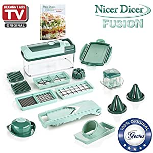 genius nicer dicer fusion julietti 16 teile alles schneider inkl slicer k che. Black Bedroom Furniture Sets. Home Design Ideas