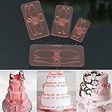 Bazaar 4pcs Formen schneiden von der Kuchen Bogen Kunststoff Icing Handwerk fondant Keks Drucker
