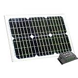 PK Green Panel Solar 20W 12V con Regulador de Carga Solar 5A - Panel Portátil Exterior para Camping, Cargar Baterías, Caravanas