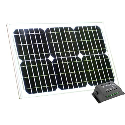 Panneau solaire 20W 12V avec contrôleur de charge 10A