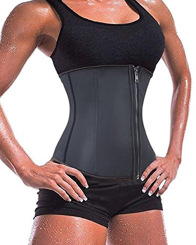 Damen Latex Elastische mit Reissverschluss Exclusive Frauen Stahlknochen Korsett Einstellbare Waist Cincher Shaper Unterbrust Shapewear Korsage Corset Latex Taillen-shaper