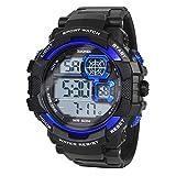 Hiwatch Männer Multifunktionale Digital Armbanduhr LED Sport 50m Wasserdichte Elektronische Analog Quarz Uhr für Jungen Studenten Geschenk