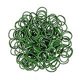 ETHAHE 600 Loom Rubber Bands Elastiques Vert Foncés Bracelet à Tricoter sans Latex avec 24 C-Attaches