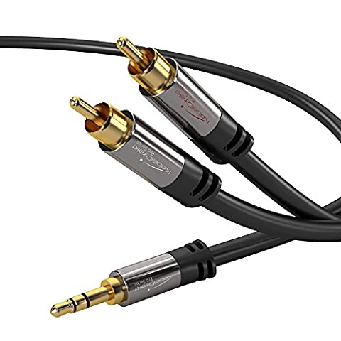 KabelDirekt 2m 3.5mm auf 2 Cinch Y
