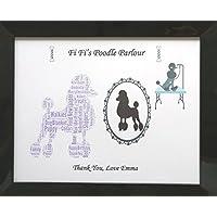 Personalizzato 'di Fi Fi Poodle Parlour' Word Art, Natale, compleanno o regalo Generale. Presentato in 8