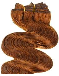 Just Beautiful Hair and Cosmetics Extensions capillaires à clip de fixation Cheveux naturels Remy Ondulés 50 cm