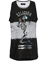Religion Homme Live Fast Praying Skeleton Vest, Noir