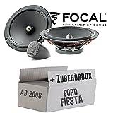 Lautsprecher Boxen Focal ISU165 | 16cm 2-Wege System Auto Einbauzubehör - Einbauset für Ford Fiesta MK7 Front Heck - JUST SOUND best choice for caraudio