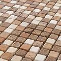 Marmor Mosaik Travertin Fliesen 15x15x8mm Braun Mix von Mosafil - TapetenShop
