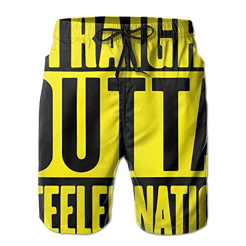 Bag hat Straight Outta Steeler Nation-1 Summer Boardshorts, Men's Swimming Shorts with Pocket Small