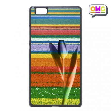 Cover per Huawei P8 Lite I Colori del Tulipano Natura Fiori - Custodia Regalo Personalizzato Scheda