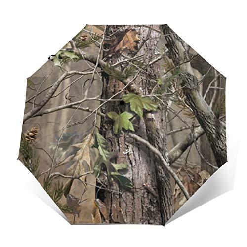Realtree APG Tarnmuster Reise-Automatischer Regenschirm für Damen und Herren, stark, Wind- und Winddicht, dreifach faltbar, kompakter Regenschirm -