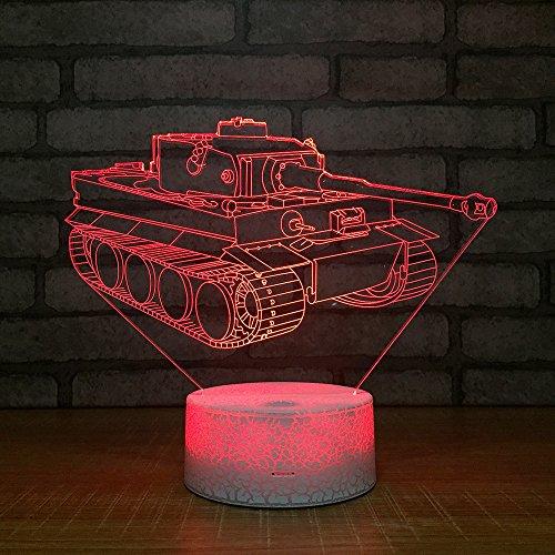 Crackle White Base Tank 3D Led Lampe 7 Farben Burst Night Lampe Für Kid Touch Usb Tisch Baby Sleeping Nightlight Raumlampe -