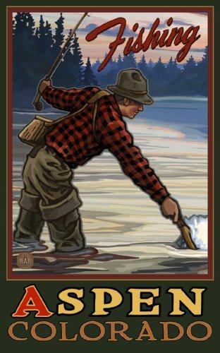 Northwest Art Mall Fishing Aspen Colorado EFF Wandschmuck von Paul A. Lanquist, 28 x 43 cm