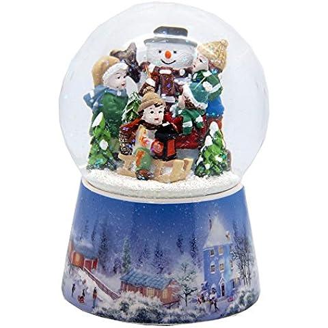 20070 Nostalgie- Bola de nieve romántico muñeco de nieve construir caja de música 10cm diámetro