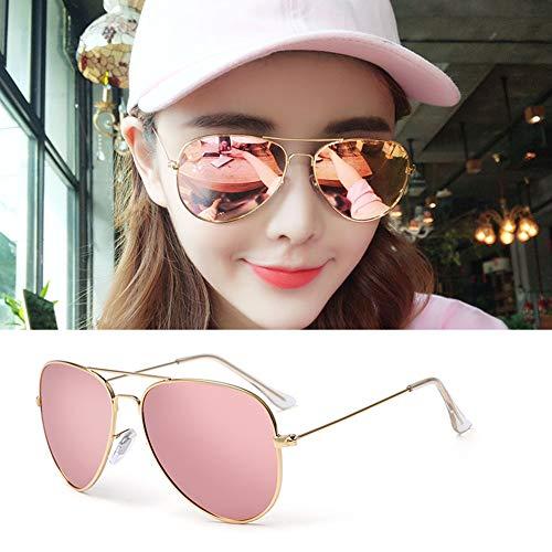 YIWU Brillen & Zubehör Pilot Sunglasses Mens Polarized Sunglasses Womens Mirrored Lens (Color : 3)