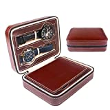 Best AXIS Jewelry Boxes - LLFFDC 4 Watch Storage Box Zipper Watches Jewellery Review