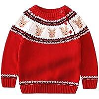 Hehong Sudadera con Cuello Redondo de suéter de Navidad Feo niños, niñas y niños