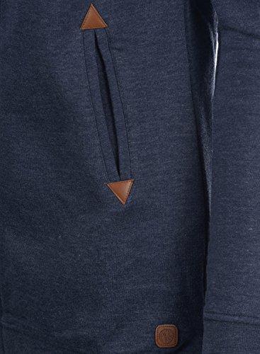 DESIRES Vicky Straight-Zip Damen Sweatjacke Kapuzen-Jacke Zip-Hoodie mit Kapuze mit optionalem Teddy-Futter aus hochwertiger Baumwollmischung Insignia Blue Melange (8991)