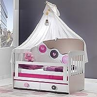 Babyzimmer, Babymöbel, Kinderzimmermöbel, Kinderzimmer, Möbel, Kombination:Point Babybett 70x130 - rosa