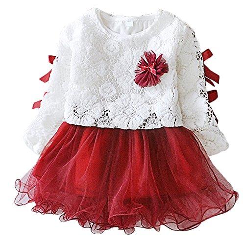 Scothen Babykleidung Herbst Kinder Mädchen Party Spitze Tutu Prinzessin Kleid Säugling Baby Kleider Outfits (Kostüme Bella Team)