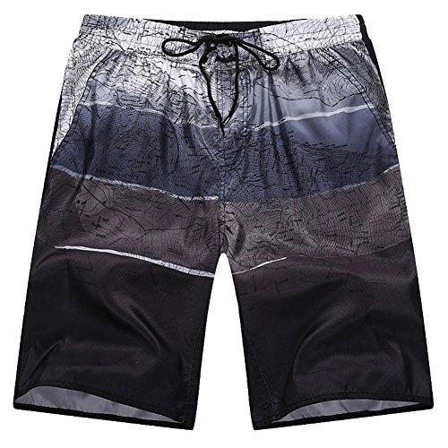 Canvas-loose-fit-jeans (Minetom Herren Shorts Sporthose Boxershorts Badehose Swimsuits Jogginghose Sommer Bermudas Kurzhose Elastisch Schnell Boardshorts Gradient Farben Schwarz EU 4XL)