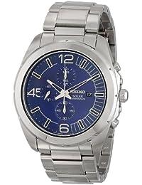 Seiko SSC201 - Reloj para hombres color plateado