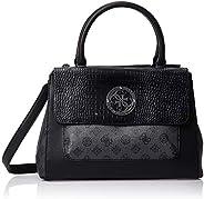 GUESS Womens Society Satchel Bag, Black - SM744106