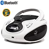 Lauson CP640 Lettore Cd Portatile Bluetooth | USB | Bambini Radio | Stereo Radio FM | Boombox | CD/MP3 Player | LCD-Display (Bianco)