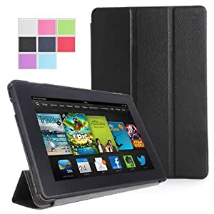 """IVSO Slim Smart Cover Housse pour Kindle Fire HDX 8.9"""" Tablette with Auto Sleep/Wake Function (Noir)"""