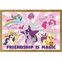 My Little Pony–L' amicizia è magica poster con accessori, MDF-Frame oak, 61 x 91,5 (Oak Poster)