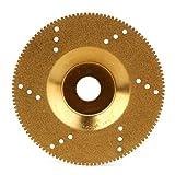 WEONE DIY Schmucksache-Fertigkeit 1.2mm Dicke Diamant-Trennscheibe Sägeblatt 16mm Innendurchmesser Schleifscheibe Goldene mit Loch
