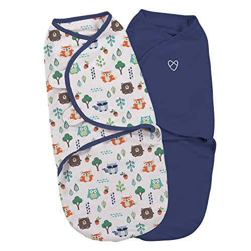 SwaddleMe-Original Pucksack, klein (0-3 Monate), Into the woods (2er Pack)