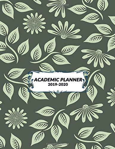 Academic Planner 2019 - 2020: Student Calendar Organizer with Daily To-Do List, Notes, Class Schedule & More To Achieve Your Goals & Inspirational Agenda, Size 8.5x11 | Green Flower Print Globale 11 Slot