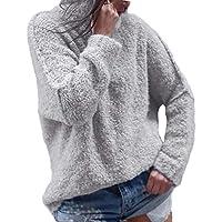 Hanomes Damen pullover, Frauen Casual Herbst Langarm Plus Warm Plüsch Rollkragen T-Shirts Tops Bluse preisvergleich bei billige-tabletten.eu