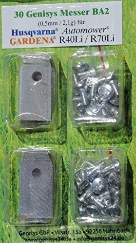 30x Messer Messerklingen für HUSQVARNA Automower 220AC 230ACX 265ACX 305 308 320 330X