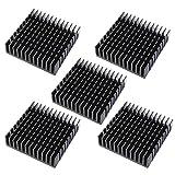 5 x Schwarz Aluminium Kühlkörper Heizkörper Heatsink Kühlung Kühler Fin 40mm x 40mm x 11mm