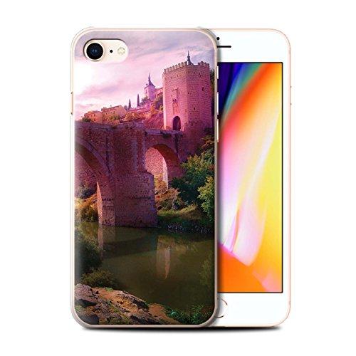 Officiel Elena Dudina Coque / Etui pour Apple iPhone 8 / Endroit Calme Design / Fantaisie Paysage Collection Pont Château/Fossé